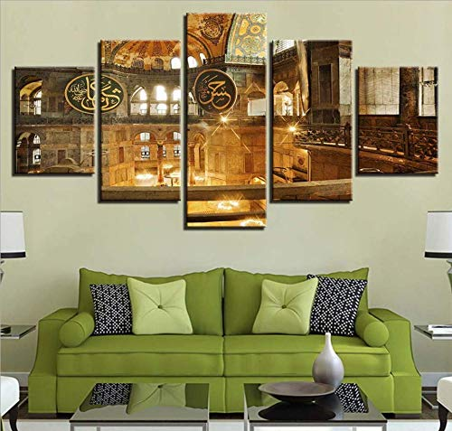 ophia Kathedrale dekorative Malerei Inkjet-Gymnastik-Gemälde, 20X30Cmx2 20X40CMX2 20X50CMX1 Core ()
