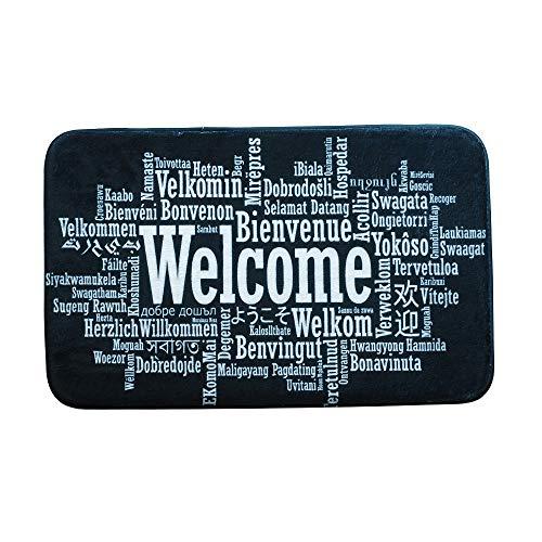 Fesjoy Alfombra Puerta Entrada Welcome Imprimiendo