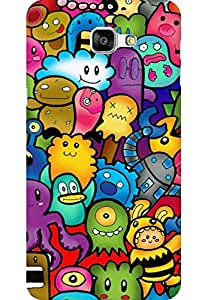AMEZ designer printed 3d premium high quality back case cover for Samsung Galaxy A9 (cute ghosts)