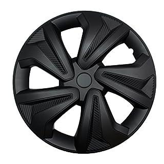 """4X Radkappen Carbon Black Auto Radzierblenden Schwarz 16"""" Zoll"""