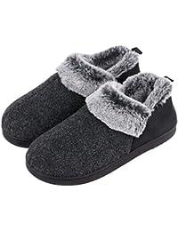 67f0ee5b332c VeraCosy Ladies  Wool-Like Fleece Clog Slippers