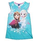Frozen Kollektion 2017 Nachthemd Die Eiskönigin 98 104 110 116 122 128 Nachtkleid Nachtrobe Disney Anna und ELSA Blau (98-104, Blau)
