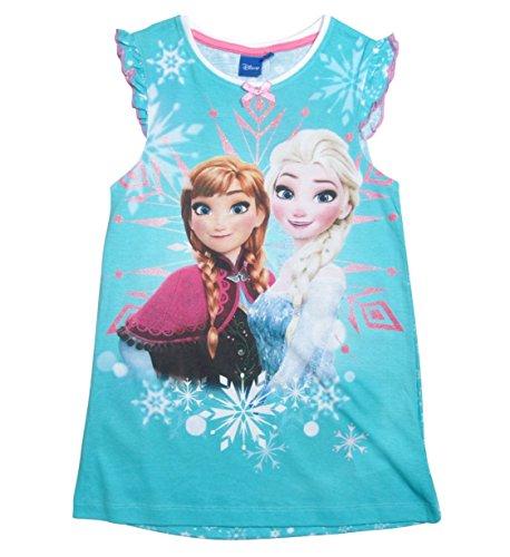 17 Nachthemd Die Eiskönigin 98 104 110 116 122 128 Neu Nachtkleid Nachtrobe Disney Anna und Elsa Blau (98 - 104, Blau) (Disney Frozen Kollektion)