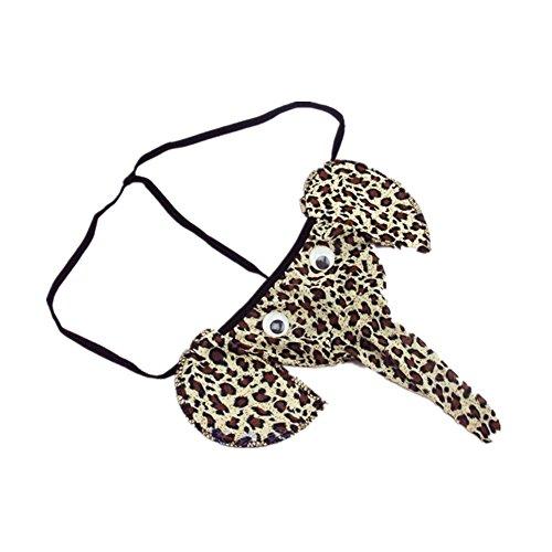 Preisvergleich Produktbild RJE Sexy Herren Erotik Elefant lustige Reizwäsche Slips Unterwäsche Boxershorts (Leopard)