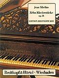 Cover of: 10 Klavierstücke op. 58 (EB 8155) | Jean Sibelius