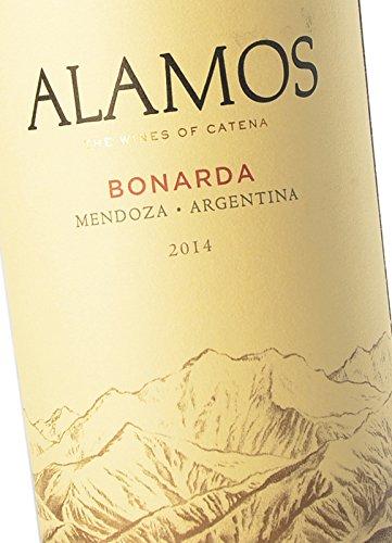 Tinto Argentino Alamos Bonarda - Alamos, Cosecha 2014 - Denominación De Origen Mendoza, Argentina - Monovarietal, Uvas Bonarda