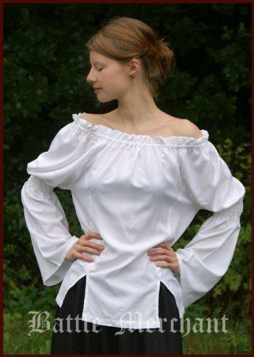 he Bluse, weiß Größe S/M (Home Piraten Kostüme Frauen)
