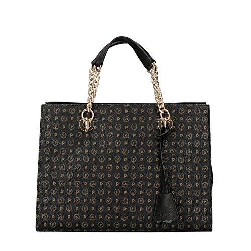 Pollini Heritage Tapiro shopping bag black