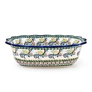 Hand-Decorated Polish Pottery Bowl/Decorative Dish 24,5×17,5×7,5cm Volume: 1l Pattern Oval DU163