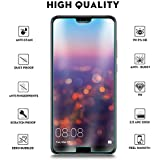 Ziaon 3D Tempered Glass Full Screen Coverage Bubble-Free Anti-Scratch Protective Film for Huawei Nova 3e (Edge to Edge) - Clear
