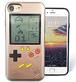 F-FISH Hülle für iPhone 6 / 6s / 7/8 Plus ABS TPU Hülle Case Schutzhülle für Das Klassische Spiel [Gameboy] [Tetris] (iPhone 6/7/8, Roségold)