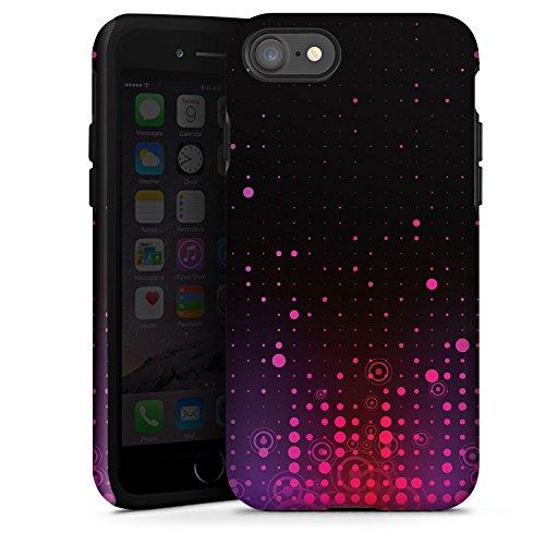 Apple iPhone X Silikon Hülle Case Schutzhülle Punkte Muster Pink Tough Case glänzend