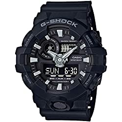 Casio G-Shock Analog-Digital Black Dial Men's Watch - GA-700-1BDR (G715)
