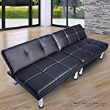 ZEARO Sofa Schlafsofa Bettsofa Schlafcouch Sofa Bettcouch Lounge Couch Chrome Garnitur Neu