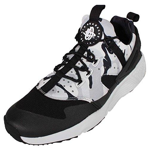 Nike Herren Air Huarache Utility Laufschuhe, Schwarz, 44 EU Grau / Silberfarben (Pr Pltnm/Blk-Drk Gry-Wlf Gry)