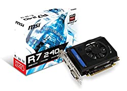 MSI Computer Radeon R7 240 2GB DirectX 12 4K Resolution Support Graphics Card R7 240 2GD5