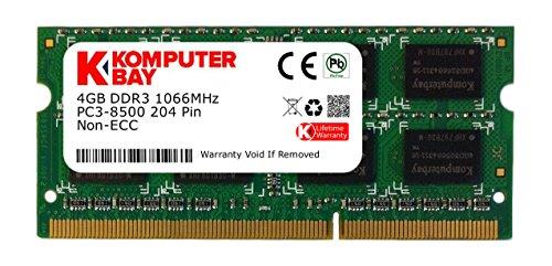 Komputerbay 4GB DDR3 SODIMM (204 pin) 1066Mhz PC3 8500 4 GB (7-7-7-20) (Vaio Cw-serie)