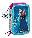 Disney Frozen - Die Eiskönigin Anna und Elsa, Federtasche Federmappe 41 tlg. gefüllt (S057), blau/weiß (615), 20,5 x 12,5 x 6 cm