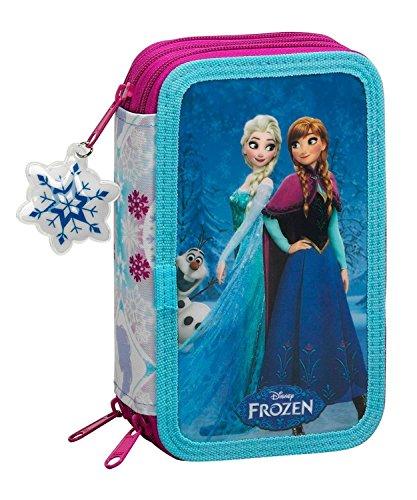 Disney frozen - la regina delle nevi anna und elsa, astuccio portapenne 41 pz. pieno (s057), blu / bianco (615), 20,5 x 12,5 x 6 cm