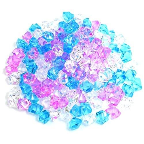 SODIAL(R) Plastic Aquarium Decoration Stone, 150 Pieces, Blue/ Pink/ White Test