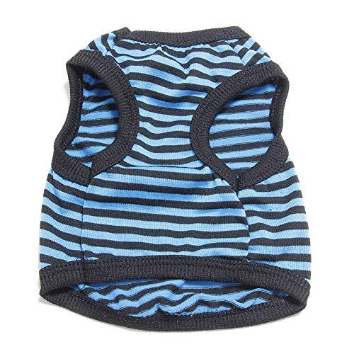 Schwimmen Kostüm Urlaub - ghfashion Hundekostüm, für Hunde und Katzen, gestreift, bequem und weich, atmungsaktives Outfit