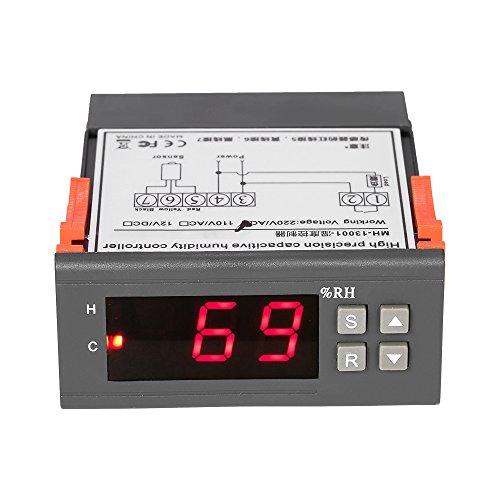 KKmoon 10A 220V digitaler Mini-Feuchtigkeits-Regler, Messbereich 1% ~ 99% mit Sensor