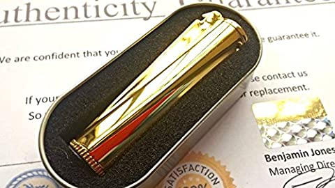 NEW 24K GOLD PLATED METAL PETROL CLIPPER LIGHTER 24CT IN GIFT BOX POLISHED FINISH CIGAR CIGARETTE FLINT REFILLABLE