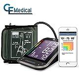 1byone Oberarm Bluetooth Digitale Blutdruckmessgerät mit großem, leicht zu lesendem, hintergrundbeleuchteten LCD, Messgerät