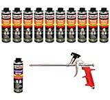 Set pistola de espuma 10Lata 500Ml Espuma de montaje 1K Diseño Espuma de espuma de poliuretano + 1limpiador + 1pistola de espuma