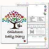 Puériculture Agenda journalier, les liens Eyfs, Daily Journal Agenda, enfant d'enregistrement, Early Years Care, chambre d'enfant Agenda journalier, 13(PVC)