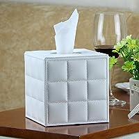 Tissue Box porta-tovaglioli di carta, TTrees rettangolari riutilizzabili in pelle sintetica in poliuretano, con porta fazzoletti di carta, tovaglioli, con pompa, per casa, ufficio, auto Automotive ristoranti, Hotel