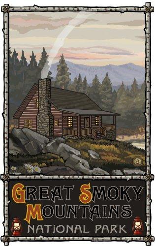 Northwest Art Mall Great Smoky Mountains National Park Summer Hills Kabine North Carolina Art Wand von Paul eine lanquist, 11von 43cm