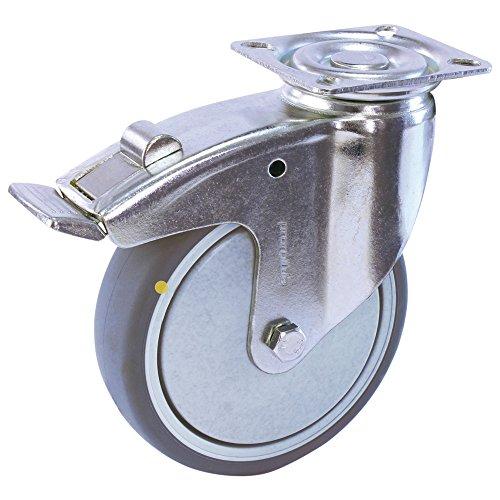Wetec Lenkrolle mit Anschraubplatte, ESD, 125 mm, mit Feststeller