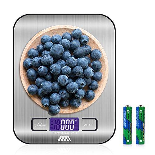 Adoric Báscula digital Cocina, Smart Weigh, Mini Balanza Escala Multifuncional electrónica para Alimentación, Joyería y Más, Color Plateado