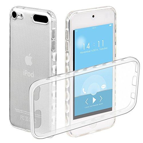 TPU Hülle für iPod Touch 6G/5G, Zcro Handyhülle Silikon Transparent Durchsichtig Weich Klar TPU Ultra Dünn Anti Rutsch Bumper Etui Schutzhülle Case Schale für iPod Touch 6G/5G Generation mit Frei Displayschutz (Ipod-generation)