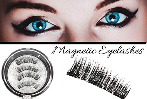 Ciglia finte magnetiche 3d, riutilizzabili, lunghezza naturale, fibre di seta, 3 magneti, senza colla, extension