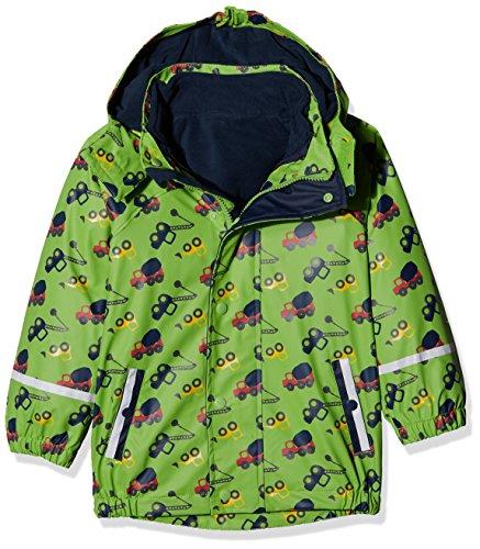 Sterntaler Kinder Jungen gefütterte Regenjacke, 3in1 Multifunktionsjacke, Alter: 4-6 Jahre, Größe: 110, Grün