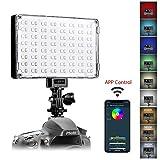 GVM LED Kamera Licht, RGB Videoleuchten mit APP Steuerung CRI97 3200K-5600K Video Licht für Canon, Nikon, Pentax, Panasonic, Sony, Samsung, Olympus und Camcorder led Kamera leuchte