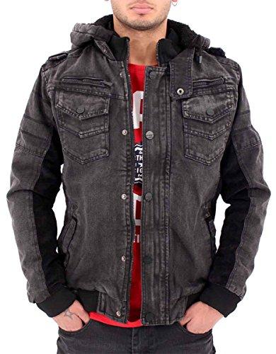 big-dawg-special-mens-boys-d-rock-vintage-denim-bomber-winter-hooded-jacket-dr16-m-black