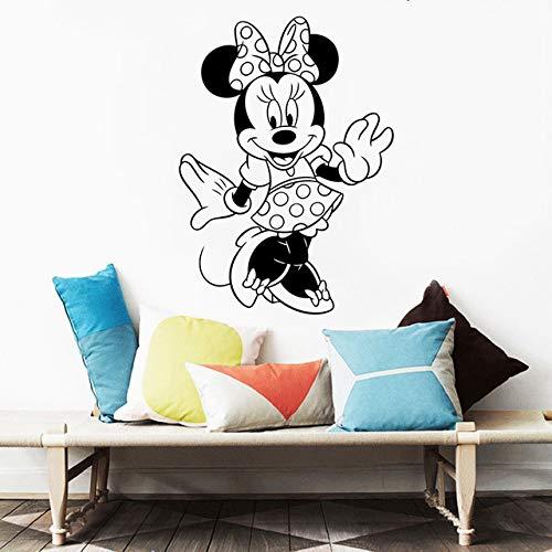 unst Aufkleber Cartoon Charakter Wandaufkleber Mädchen Kinderzimmer Dekor Abnehmbare Vinyl Minnie Maus Aufkleber 57X79 Cm ()