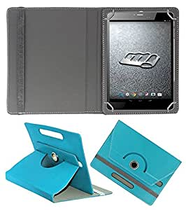 """ECellStreet 360° Degree Rotating 7 Inch Flip Cover Diary Folio Case With Stand For Wishtel IRA Thing 7"""" 3G - Aqua Blue"""