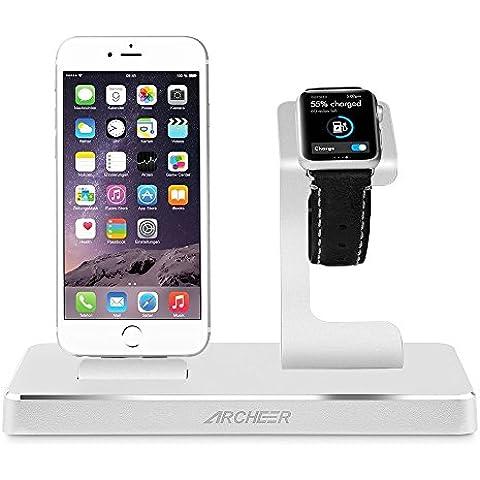 Archeer Supporto per Ricarica Apple Watch& iPhone Stand Certificato MFi