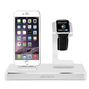 archeer apple watch stand st nder 3 in 1 multifunktions aluninum apple ladestation charging dock. Black Bedroom Furniture Sets. Home Design Ideas