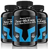 3x TRIBU-MAXIMUM = 720 Tabletten für 180 Tage Versorgung | Hardcore Series | Hochdosiert mit 2000 mg je Tagesportion | Ultra High Saponin 90% | 100 % Vegan - Muskelaufbau + Potenz | Premium Qualität
