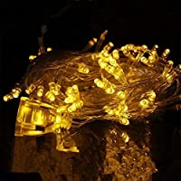 Christmas Yellow Light Xmas Tree Lamp EUR 220V 10M Party Room Decor LED String Fairy Lights