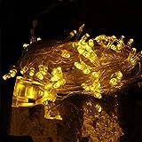 Christmas Yellow Light Xmas Tree Lamp EUR 220V 10M Party Room Decor LED String Fairy Lights