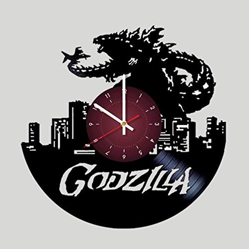 My STORE For YOU Godzilla Wanduhr aus Vinyl, für Kinderzimmer, Geschenkidee für Kinder, Baby, Bruder und Schwester, Ihn und Sie (Ihre Batman-kostüm Eigenen Sie Machen)