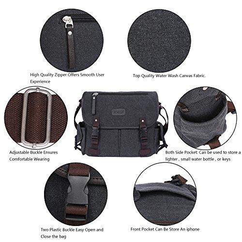 EGOGO Mannes Laptop Messenger Schultertasche Tasche Hobo Business Handtasche Aktentasche Travel Pack Schwarz