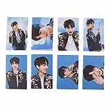 Bellenne 8 Stück BTS Mini Fotokarten Postkarte Lomo Karten | Jungkook, Jimin, V, Suga, Jin, J-Hope, Rap Monster | Sammlung und Beste Geschenk für The Army (Jung Kook)