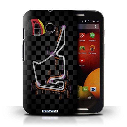 Kobalt® Imprimé Etui / Coque pour Motorola Moto E (2014) / Singapour conception / Série 2014 F1 Piste Allemagne/Hockenheim